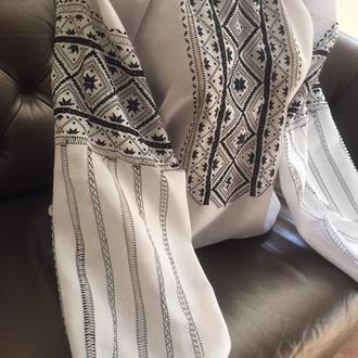 Этно вышиванка на домотканом полотне. TM SavchukVyshyvka