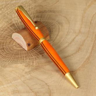 Авторучка дерев'яна, модель Фентезі - оранж