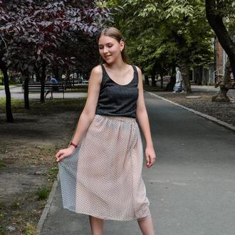 Фатиновая юбка в горошек на подкладке