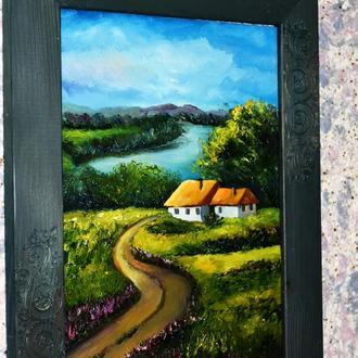 пейзаж, живопись,20х30см