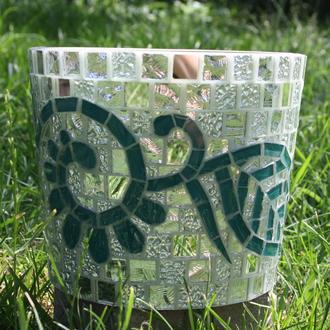 Кашпо для цветов (керамика, мозаика)