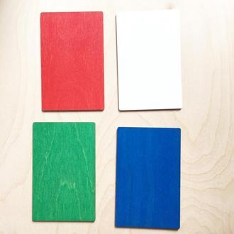 Заготовки для открыток из дерева