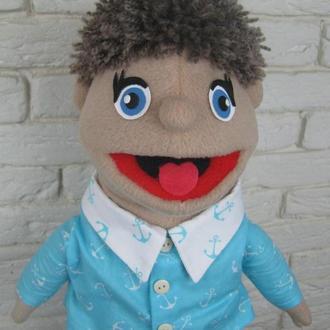 Ванечка кукла на руку с открывающимся ртом