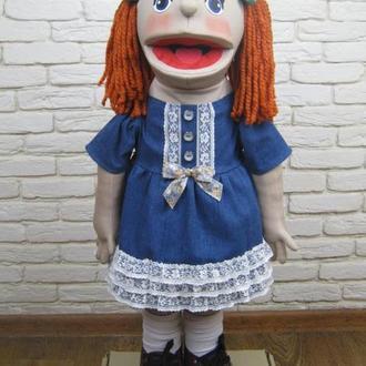 Матильда кукла на руку с открывающимся ртом
