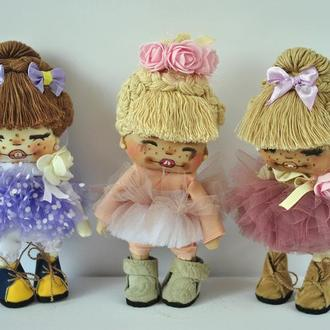 Коллекционная кукла в пастельных тонах