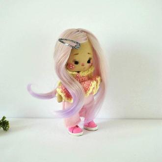 Интерьерная кукла Конфетка в розовом цвете