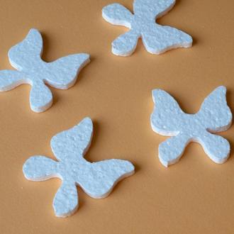 Бабочки из пенопласта, пенопластовые бабочки, заготовки для декупажа