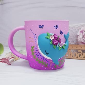 Чашка с китом