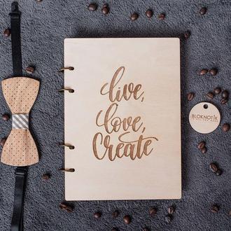 Блокнот для творчества. Оригинальный блокнот для подарка девушке дизайнеру.