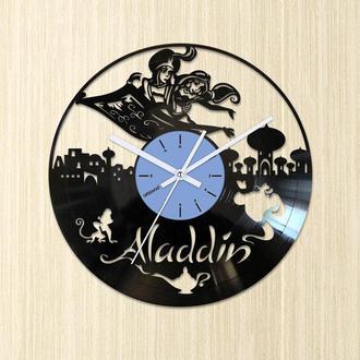 Часы из виниловой пластинки,Виниловые часы Аладдин