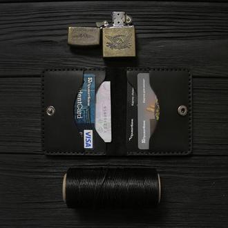 Мужской кожаный бумажник VOILE vl-mw3-blk