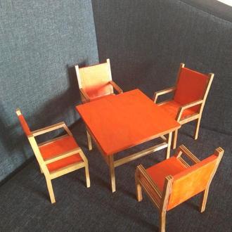 Мебель для барби. Стол и стулья для кукол барби, монст, эвер, лол