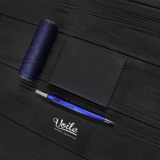 Мужской кожаный бумажник VOILE vl-mw4-blu