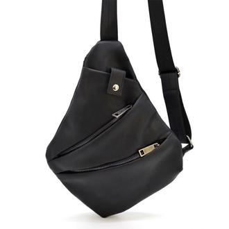Мужская сумка через плечо RA-6402-3md черная бренд TARWA