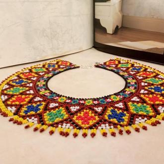 Женское ожерелье - буковинская силянка из чешского бисера