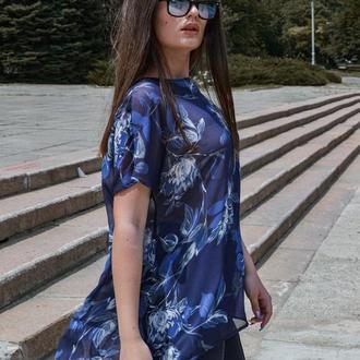 Шифоновая блуза туника