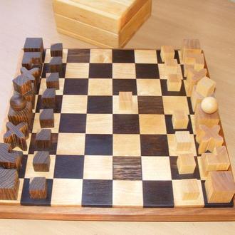 Шахматы с доской. Bauhaus. Конструктивизм.