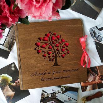 Фотоальбом из дерева - подарок второй половинке | альбом для теплых воспоминаний с гравировкой