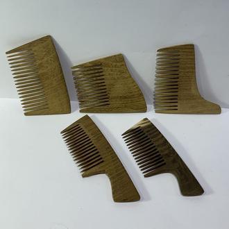 Гребень деревянный для бороды, усов Акация