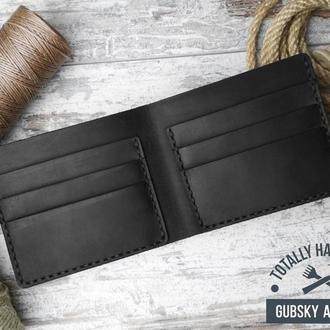 Портмоне мужской кошелек Минималист 100% натуральная кожа