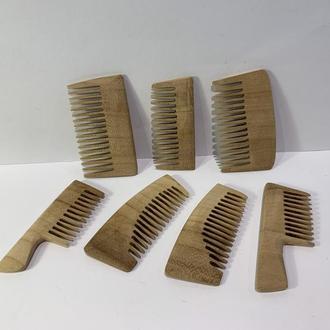 Гребень деревянный для бороды, усов Абрикос