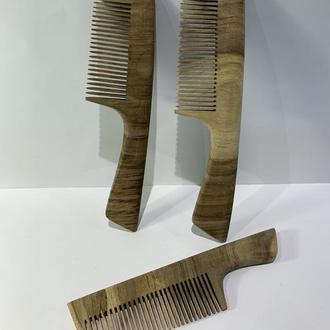 Гребень деревянный для волос, бороды, усов Орех