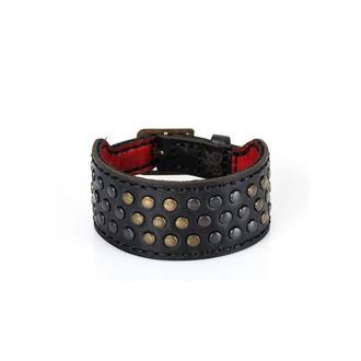 Чорний шкіряний браслет TONY BLACK BRACELET