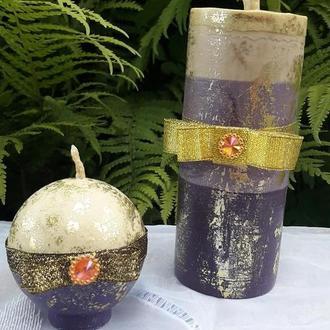 Набор восковых свечей из пчелиного воска / Ароматизированные свечи