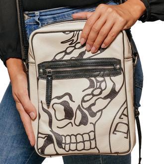 Белая сумка RINGO TATTOO WHITE MESSENGER BAG из кожи