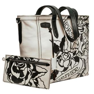 Белая сумка тоте CHARLOTTE TATTOO WHITE TOTE с принтом
