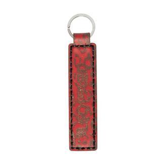 Красный брелок для ключей LEOPARD RED SMALL KEYCHAIN из кожи