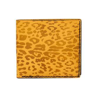Желтое портмоне OZZY LEOPARD YELLOW WALLET из натуральной кожи