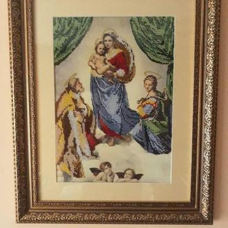 Картина Вишита Чеським Бісером «Сикстинська Мадонна»