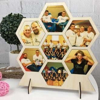 Необычная деревянная рамка с Вашими фото на заказ