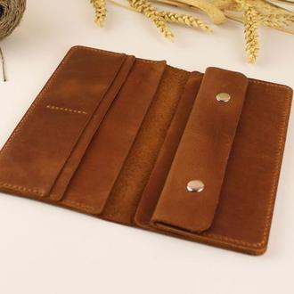 """Бумажник кожаный """"Ковбой""""_brown"""