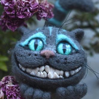 Чеширский кот валяные игрушки скульптуры