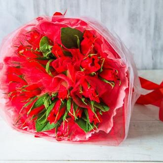 Букет из конфет Красные розы 19 шт.