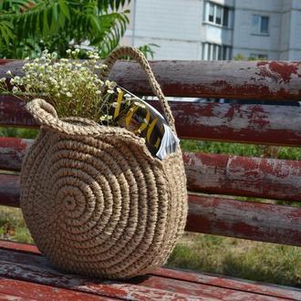 Вязаная сумка из джута, Эко сумка