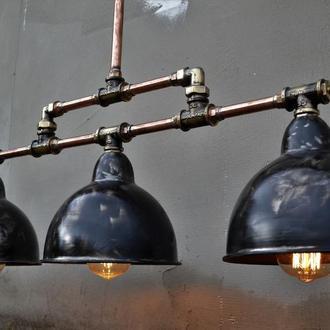 Медный подвесной светильник, индустриальное потолочное освещение