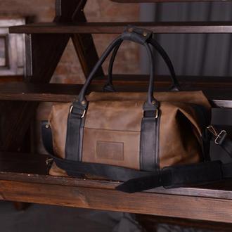 Кожаная дорожная сумка, Спортивная кожаная сумка зеленая