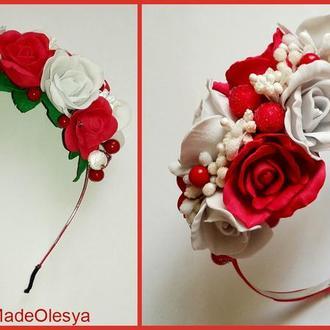 Изысканный ободок из роз