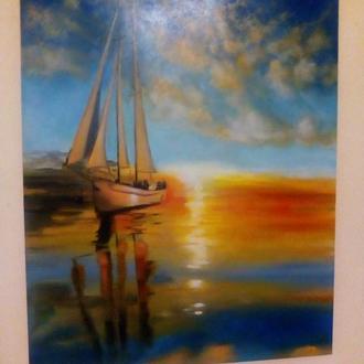 """Картина """"Під вітрилами"""", олія"""