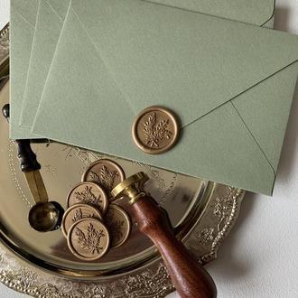 Конверт из бумаги Materica (болотный цвет)