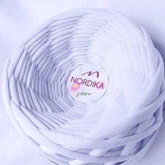 Трикотажна пряжа Nordika Yarn 7-9 мм білий 015