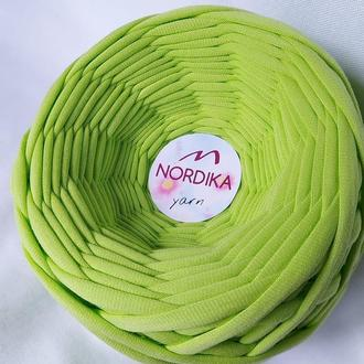 Трикотажна пряжа Nordika Yarn 7-9 мм лайм 013
