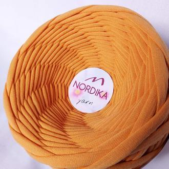 Трикотажна пряжа Nordika Yarn 7-9 мм абрикос 012