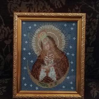 Остробрамская икона Божией Матери вышитая бисером