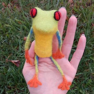Пальчиковая игрушка Жабчик.