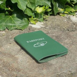 Обложка на паспорт из кожи v2.0 (green)
