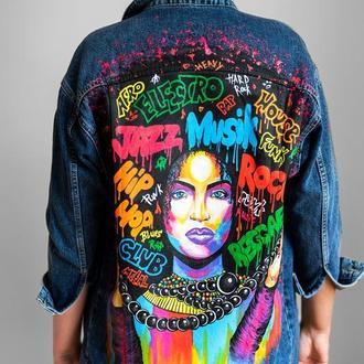 Джинсовая куртка Music